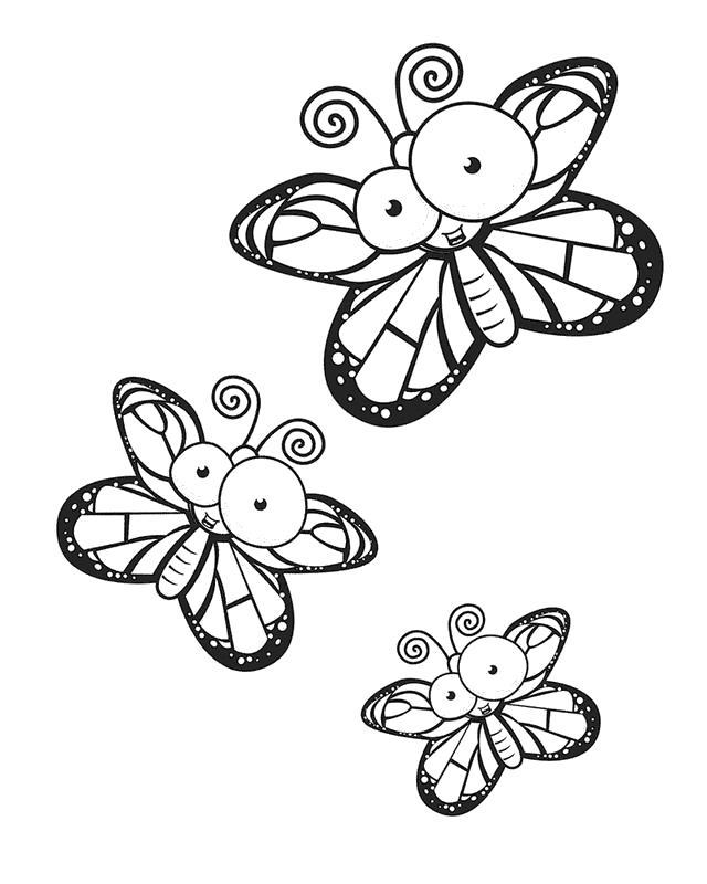 Раскраска бабочки с большими глазами. Скачать Бабочки.  Распечатать Насекомые