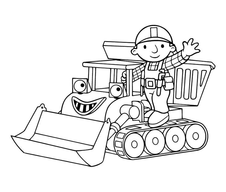Раскраска Боб строитель. Скачать Герои Диснея.  Распечатать Герои Диснея