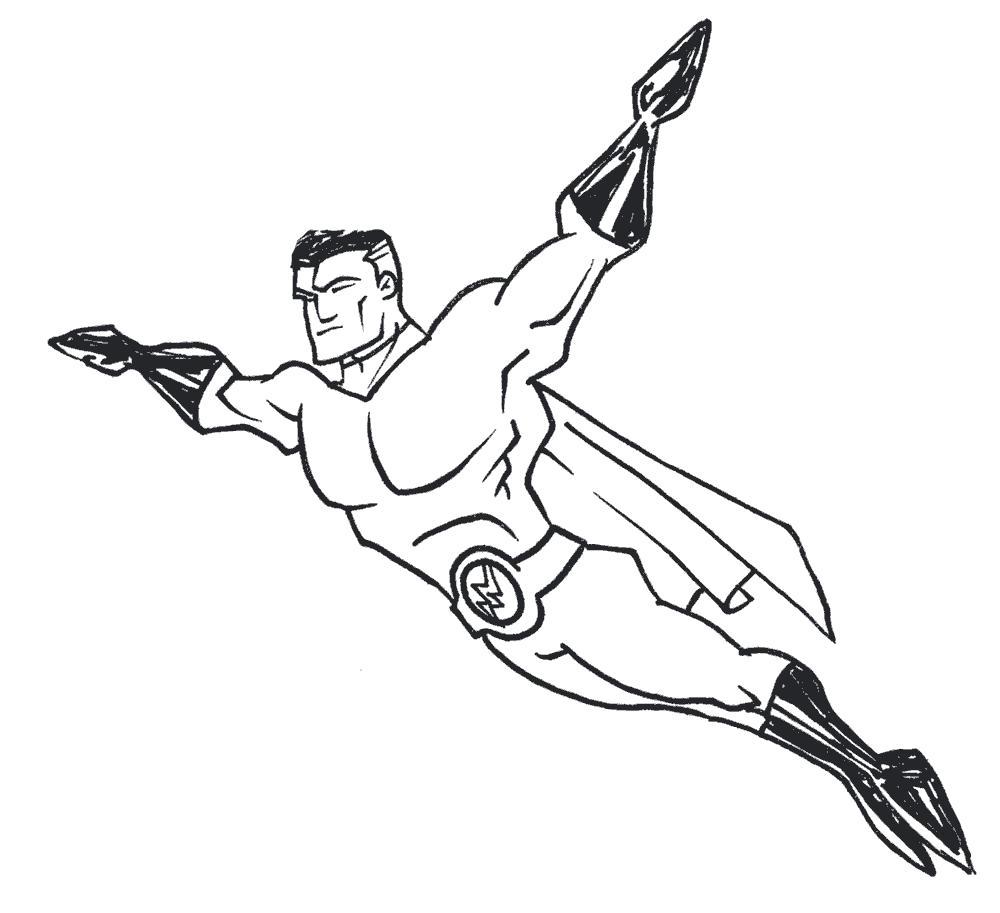 Раскраска  Супергерои супергерой. Скачать Супергерои.  Распечатать Супергерои