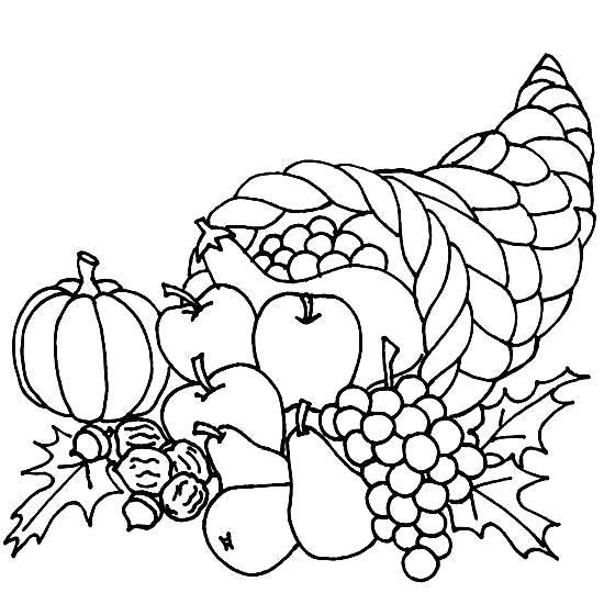 Раскраска Осенний урожай. Скачать .  Распечатать