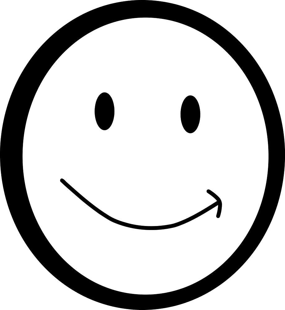 Раскраска  улыбка. Скачать Смайл.  Распечатать Смайл