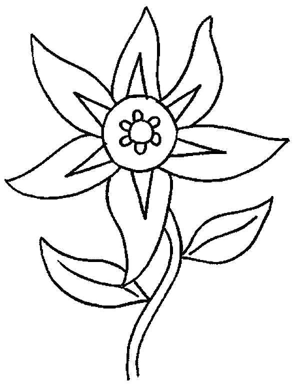 Раскраска Цветочек. Скачать Цветок.  Распечатать Цветок