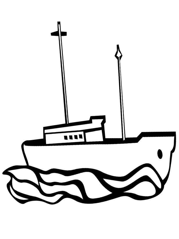 Раскраска Картинка корабля. Скачать корабли.  Распечатать корабли