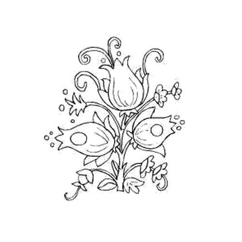 Раскраска  Нарисованные цветы колокольчики. Скачать Цветы.  Распечатать Цветы