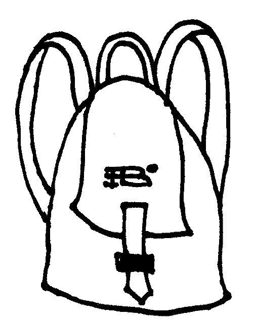 Раскраска Маленький рюкзак. Скачать .  Распечатать