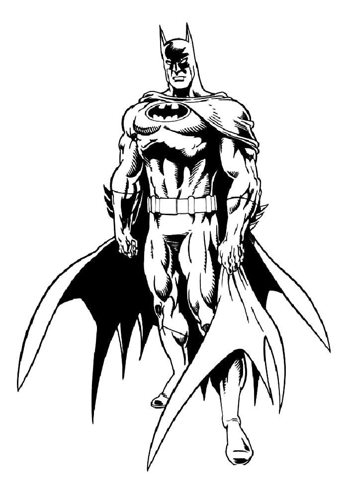 Раскраска . Скачать Бэтмен.  Распечатать Бэтмен