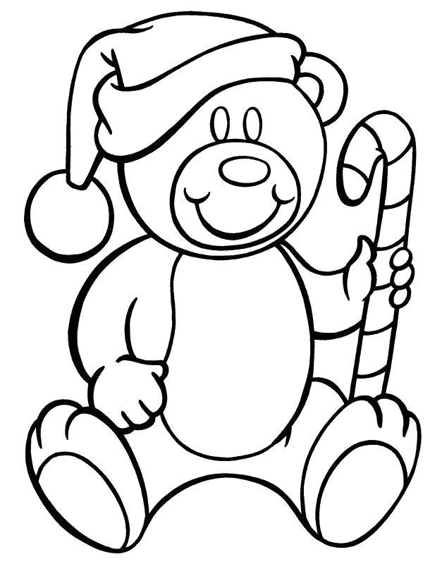 Раскраска Мишка со сладостью . Скачать Мишка.  Распечатать Мишка