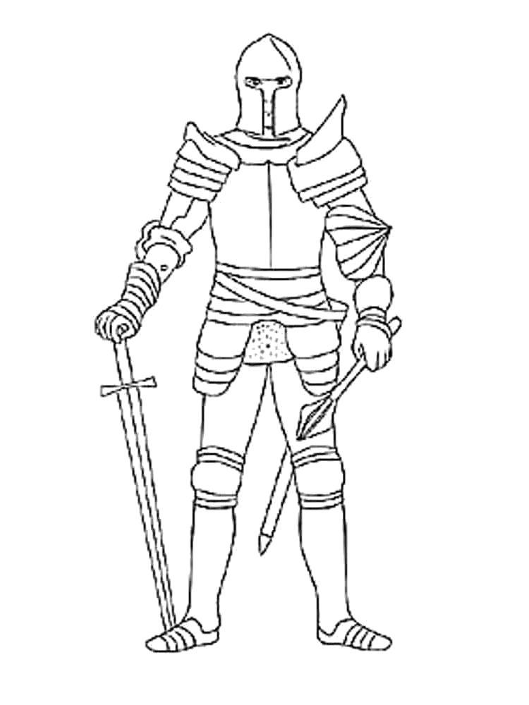 Название: Раскраска Раскраски рыцари. Категория: рыцари. Теги: рыцари.