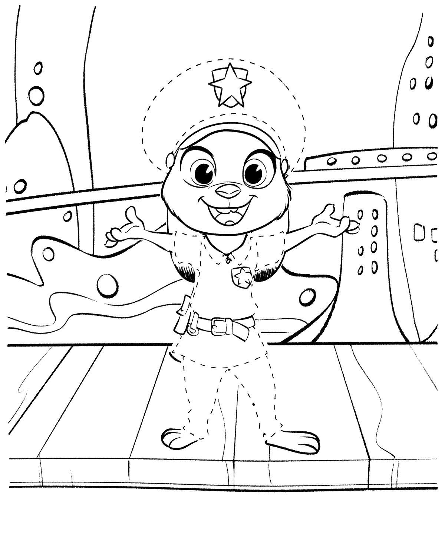 Раскраска  Зверополис - зайка Джуди в детстве. Скачать Зверополис.  Распечатать Зверополис