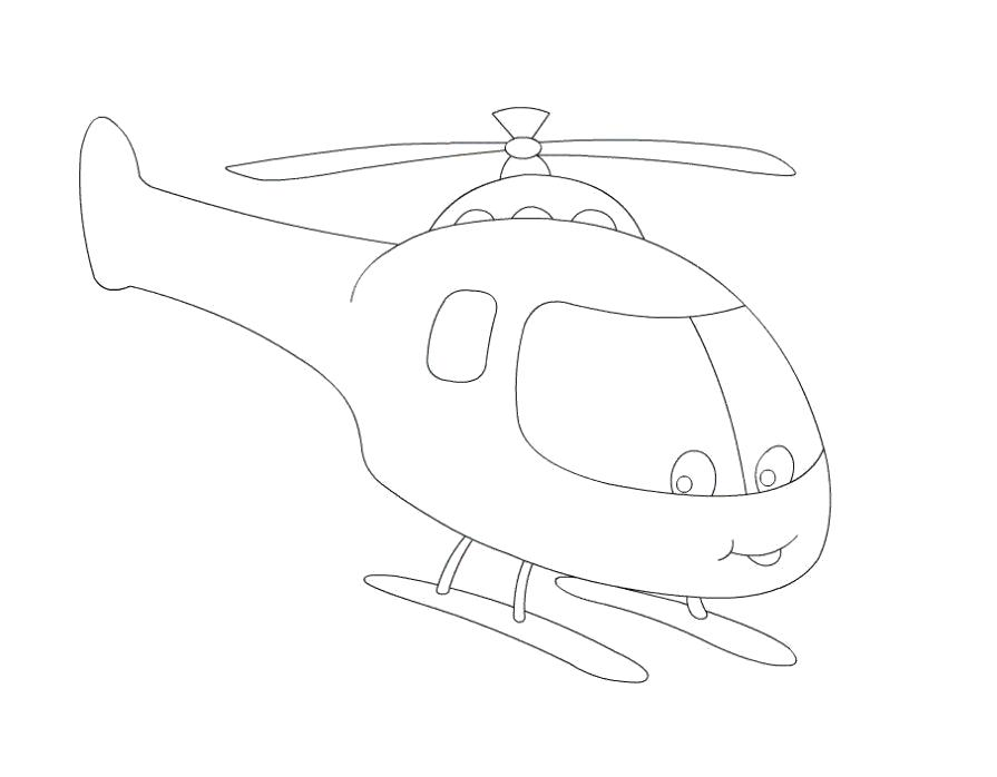 Раскраска  вертолет. Скачать вертолет.  Распечатать вертолет