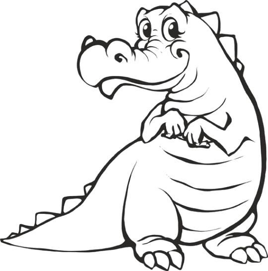Раскраска Крокодил. Скачать животных.  Распечатать животных