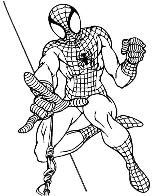 Раскраска  Человек-паук (Спайдермен). Скачать .  Распечатать