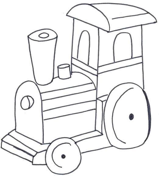 Раскраска Маленький паровозик. Скачать Транспорт.  Распечатать Транспорт