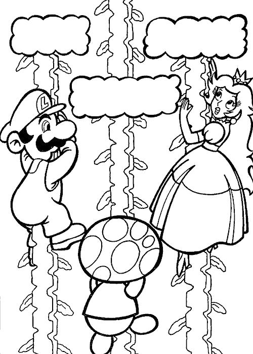 Раскраска Игра. Скачать Марио.  Распечатать Марио