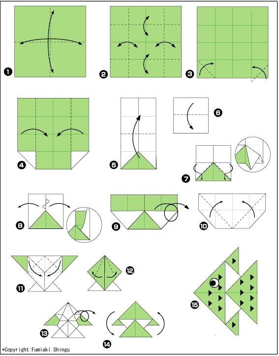 Раскраска Оригами рыбка. Скачать .  Распечатать