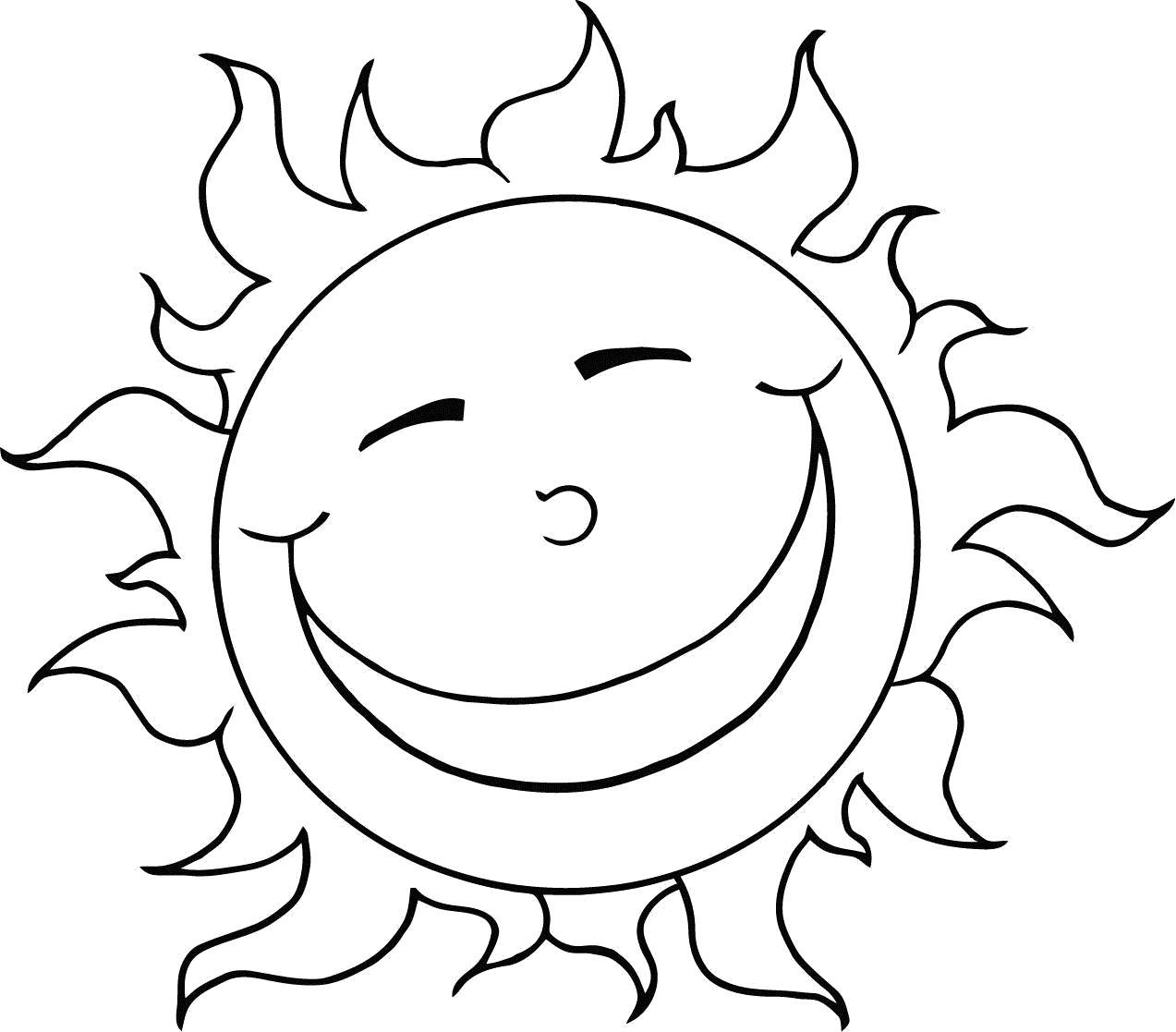 Раскраска Радость. Скачать Солнышко.  Распечатать Солнышко