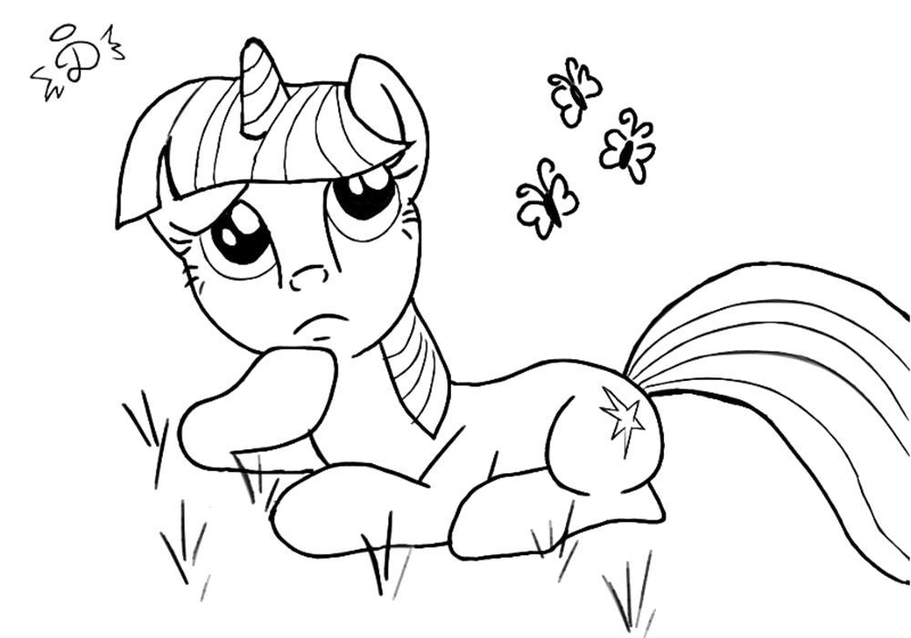 Раскраска  май литл пони Искорка. Скачать Пони.  Распечатать Пони