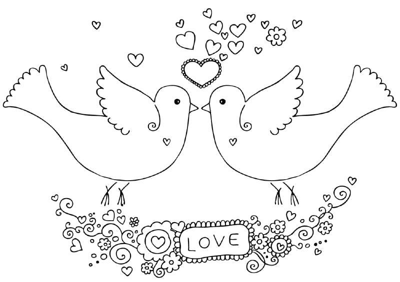 "Раскраска  ""валентинки на день святого валентина"" . Скачать день Святого Валентина.  Распечатать день Святого Валентина"