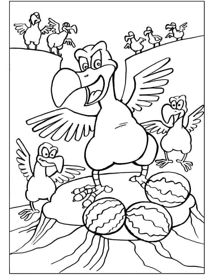 Раскраска Древние птицы. Скачать .  Распечатать