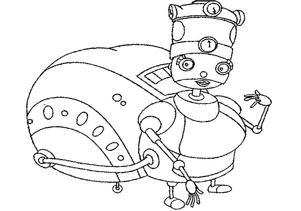 Раскраска Рисунки и картинки  роботы. Скачать Робот.  Распечатать Робот