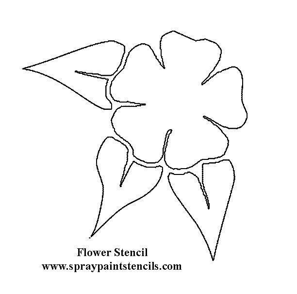 Раскраска шаблон цветочка вырежи из бумаги. Скачать цветы.  Распечатать цветы