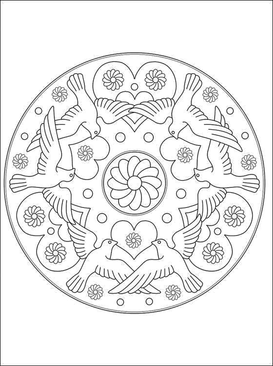 Раскраска Узоры. Скачать узоры, цветы, круглые.  Распечатать антистресс