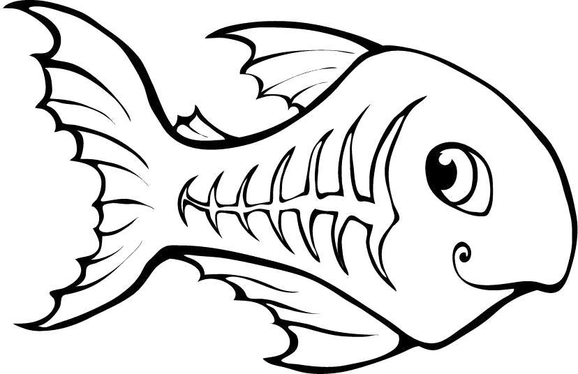 Раскраска Чудная рыбка. Скачать .  Распечатать