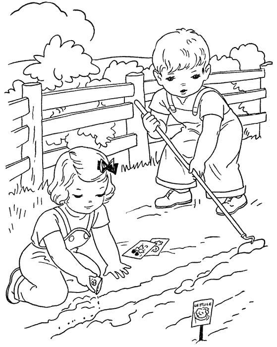 Раскраска Ферма и детки. Скачать .  Распечатать