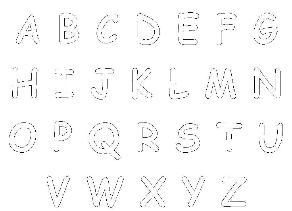 Раскраска Английский алфавит. Скачать развивающие.  Распечатать развивающие