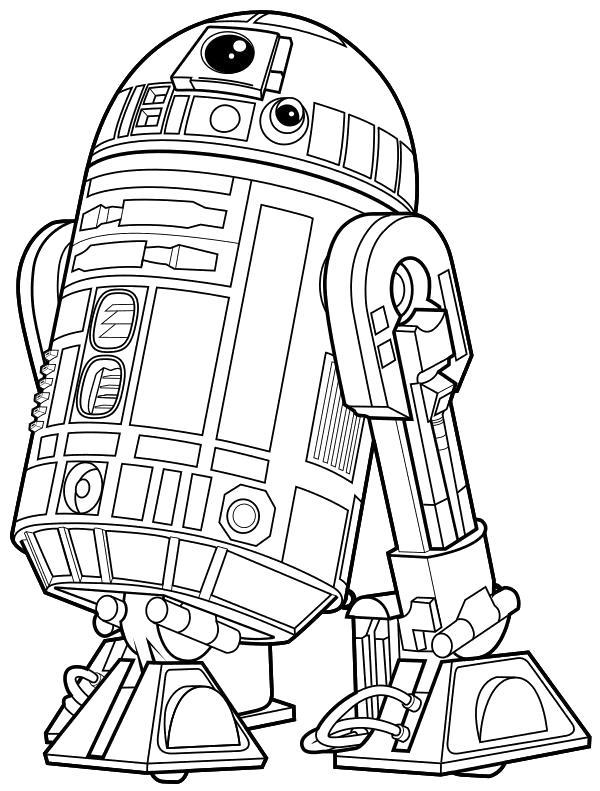 Раскраска  - Звёздные войны: Пробуждение силы - Астродроид R2-D2. Скачать Звездные войны.  Распечатать Звездные войны