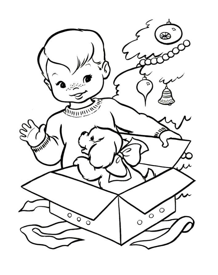 Раскраска  подарок к новому году. Скачать Подарки.  Распечатать Новый год