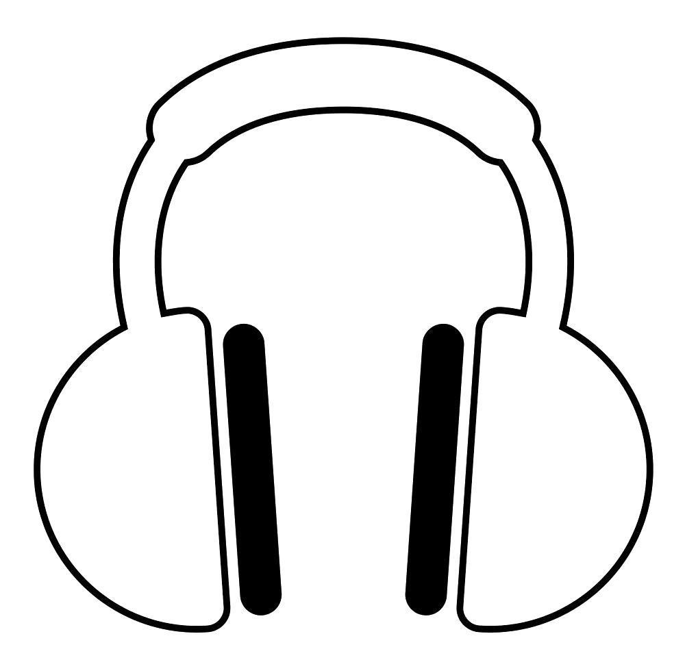 Раскраска наушники, наушники для музыки, музыка, аудиотехника. Скачать .  Распечатать