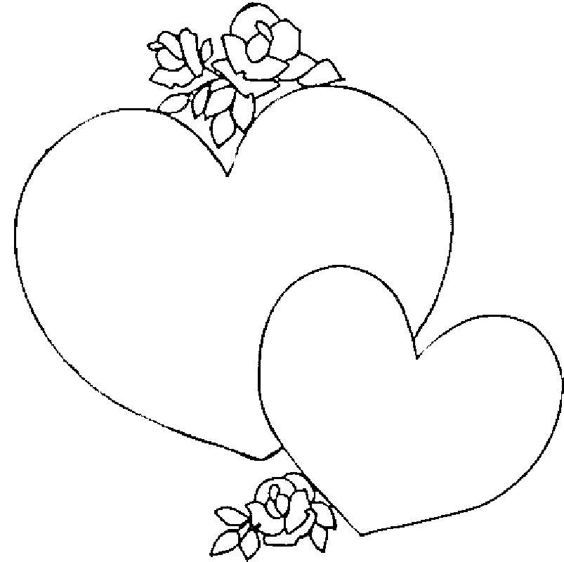 Раскраска  день святого валентина день святого валентина, открытка, валентинка . Скачать сердце.  Распечатать сердце