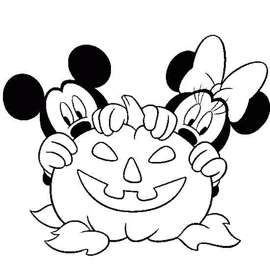 Раскраска   бесплатно,    для  детей,    с  мультфильмов, Хэллоуин, микки и тыква. Скачать Хэллоуин.  Распечатать Хэллоуин