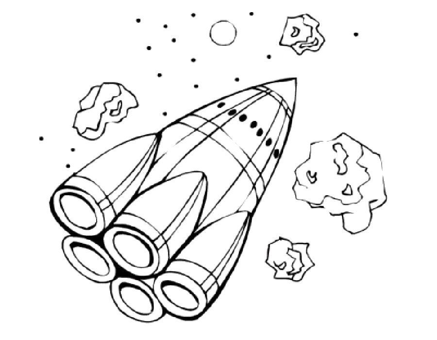 Раскраска Шаттл. Скачать день космонавтики.  Распечатать день космонавтики