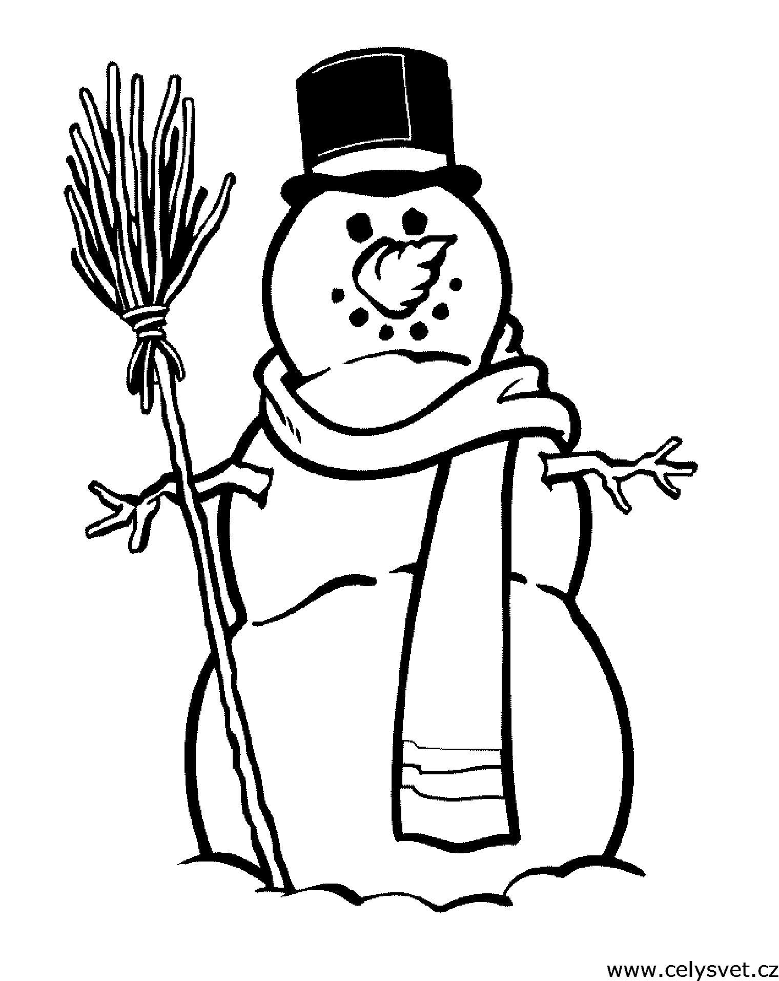 Раскраска Распечатать бесплатные  для детей: Праздники: Зима. Скачать .  Распечатать