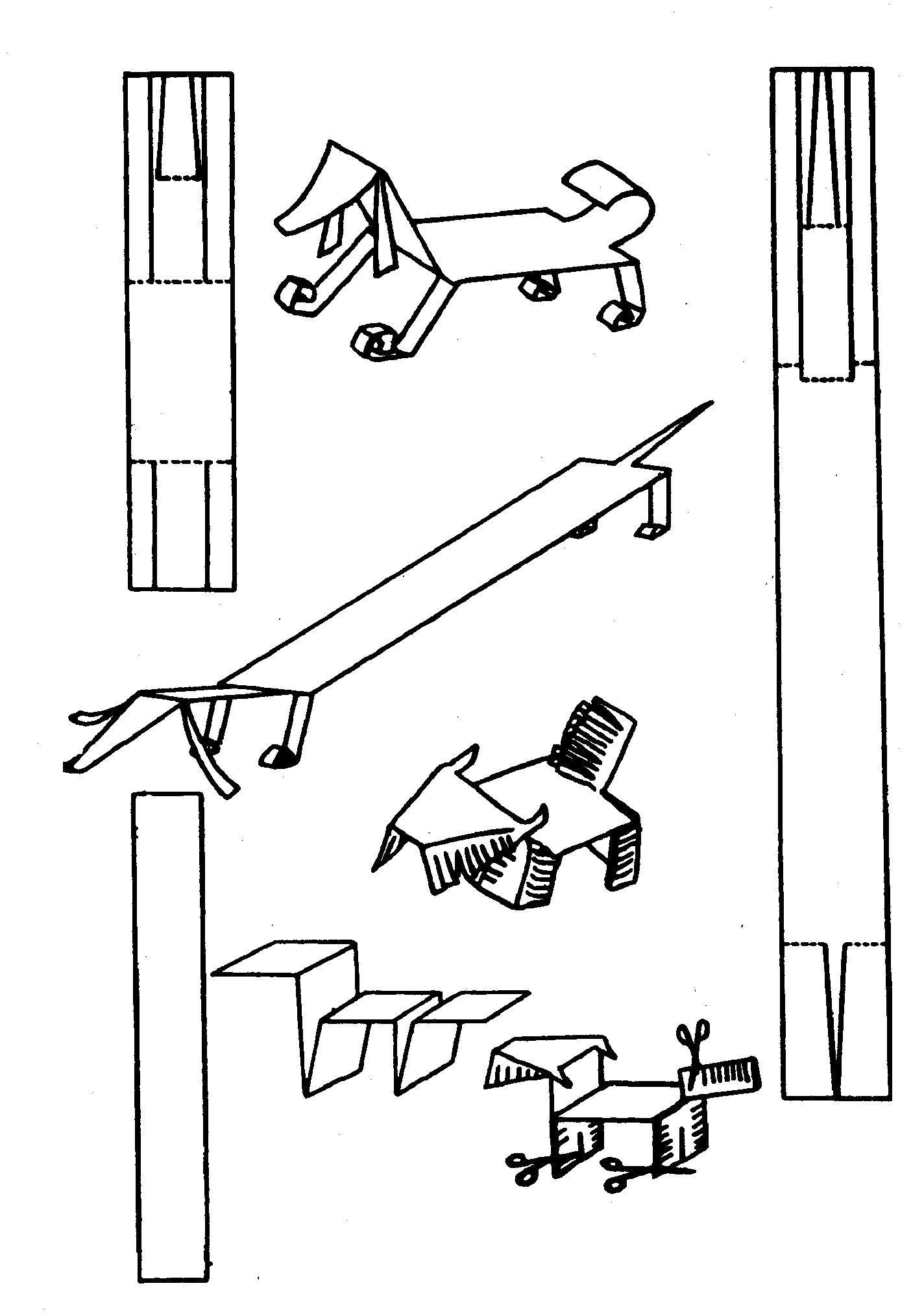 Раскраска Оригами. Скачать оригами.  Распечатать оригами