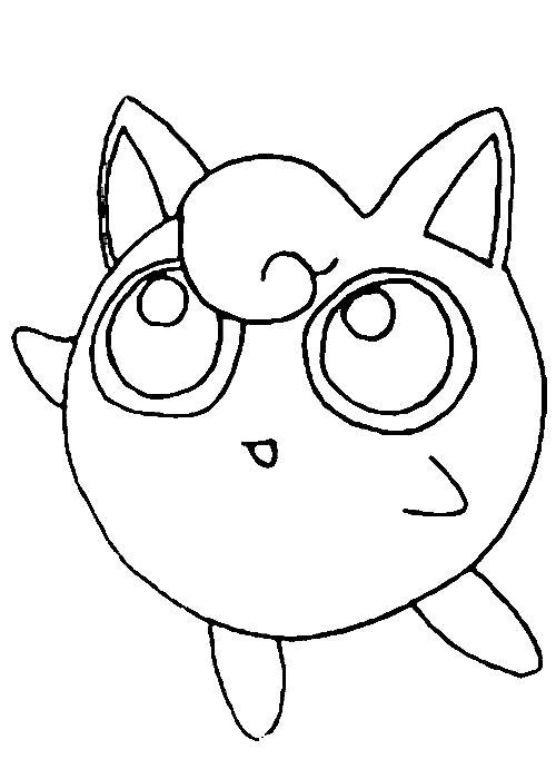 Раскраска Милашка. Скачать покемон.  Распечатать покемон