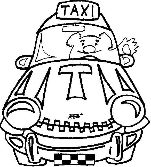 Раскраска Мишка таксист. Скачать .  Распечатать