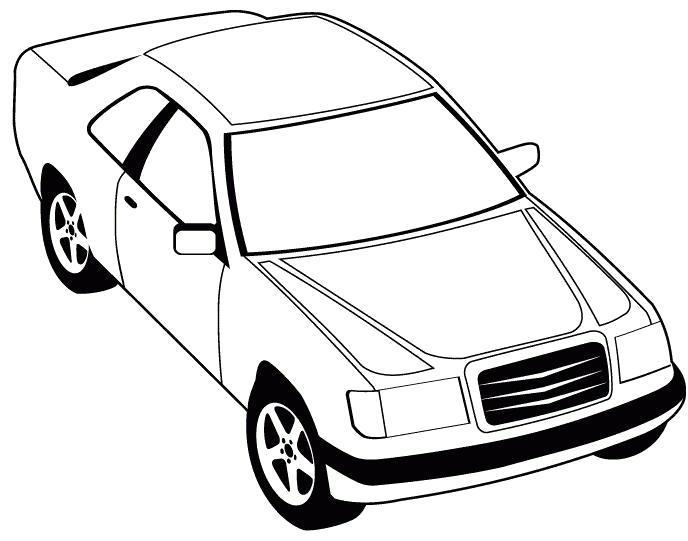 Раскраска Картинка- мерседес-220. Скачать Машины.  Распечатать Машины