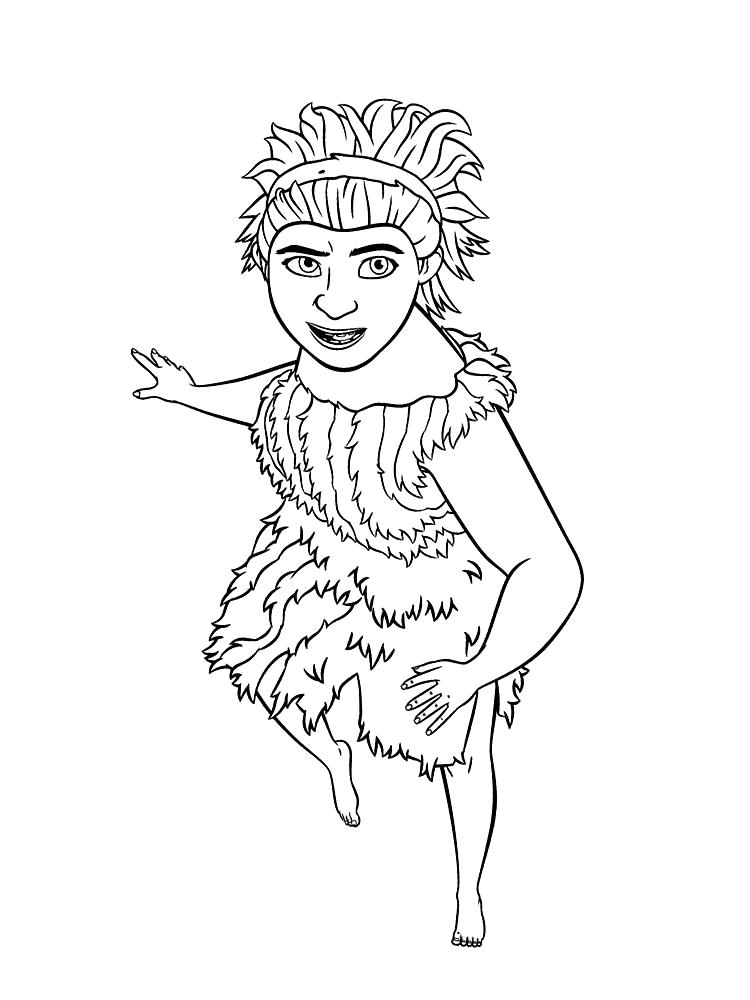 Раскраска  картинки для детей Семейка Крудс. Скачать Семейка Крудс.  Распечатать Семейка Крудс