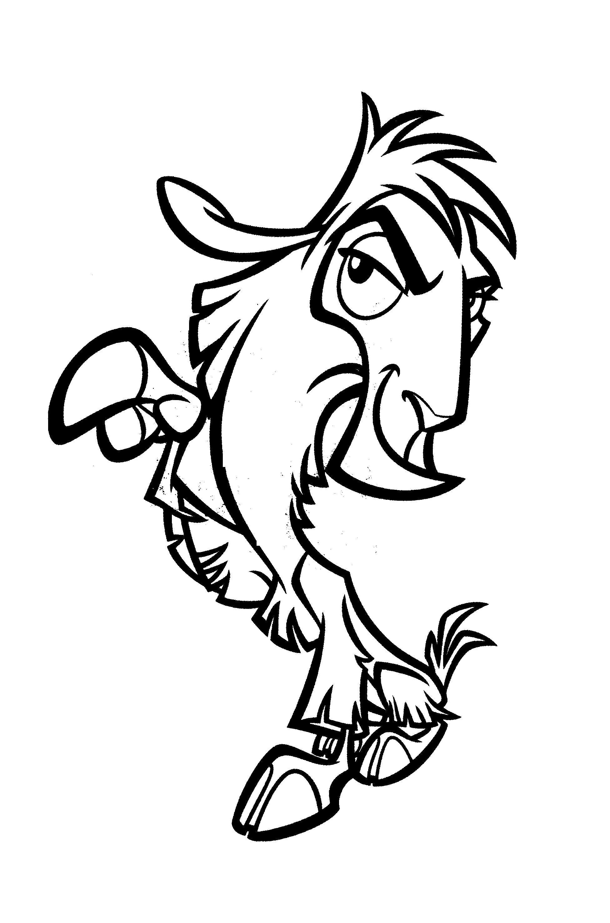 Раскраска Прикольный конь. Скачать .  Распечатать