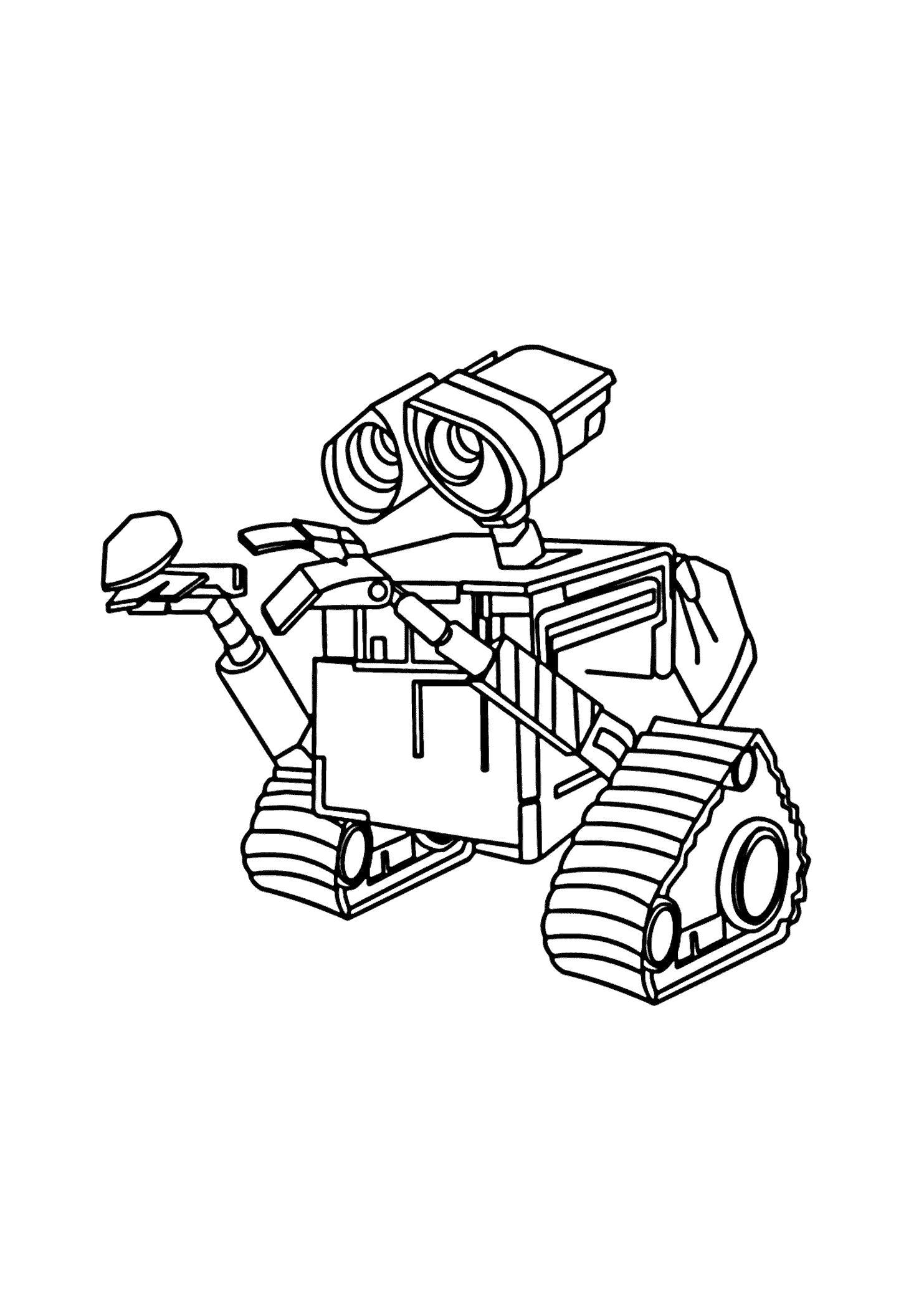Раскраска . Скачать Робот.  Распечатать Робот