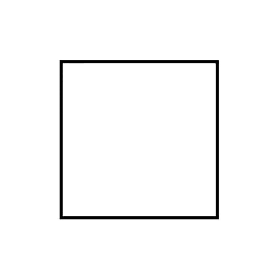 Раскраска  геометрические фигуры из бумаги квадрат контур для вырезания из бумаги, квадрат шаблон. Скачать квадрат.  Распечатать геометрические фигуры