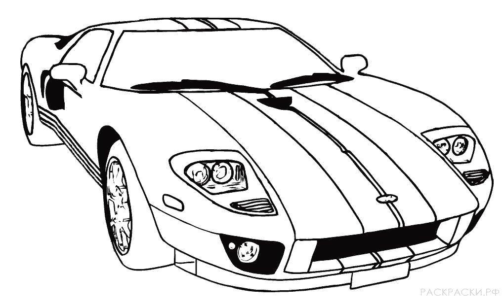 Раскраска  Спортивная машина 2. Скачать Машина.  Распечатать Машина