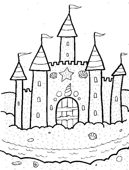 Раскраска  Замок Рыцарский. Скачать Замок.  Распечатать Замок