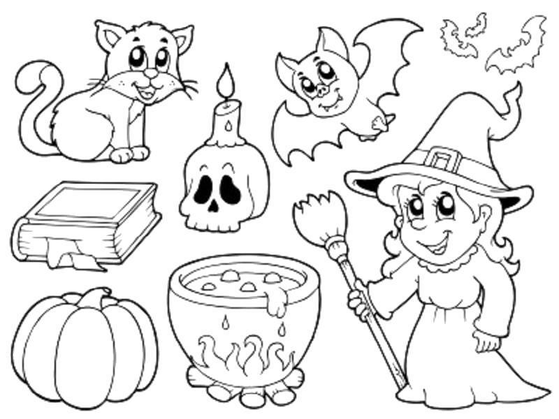 Раскраска Шляпа,  Книга  Хэллоуин, . Скачать Хэллоуин.  Распечатать Хэллоуин