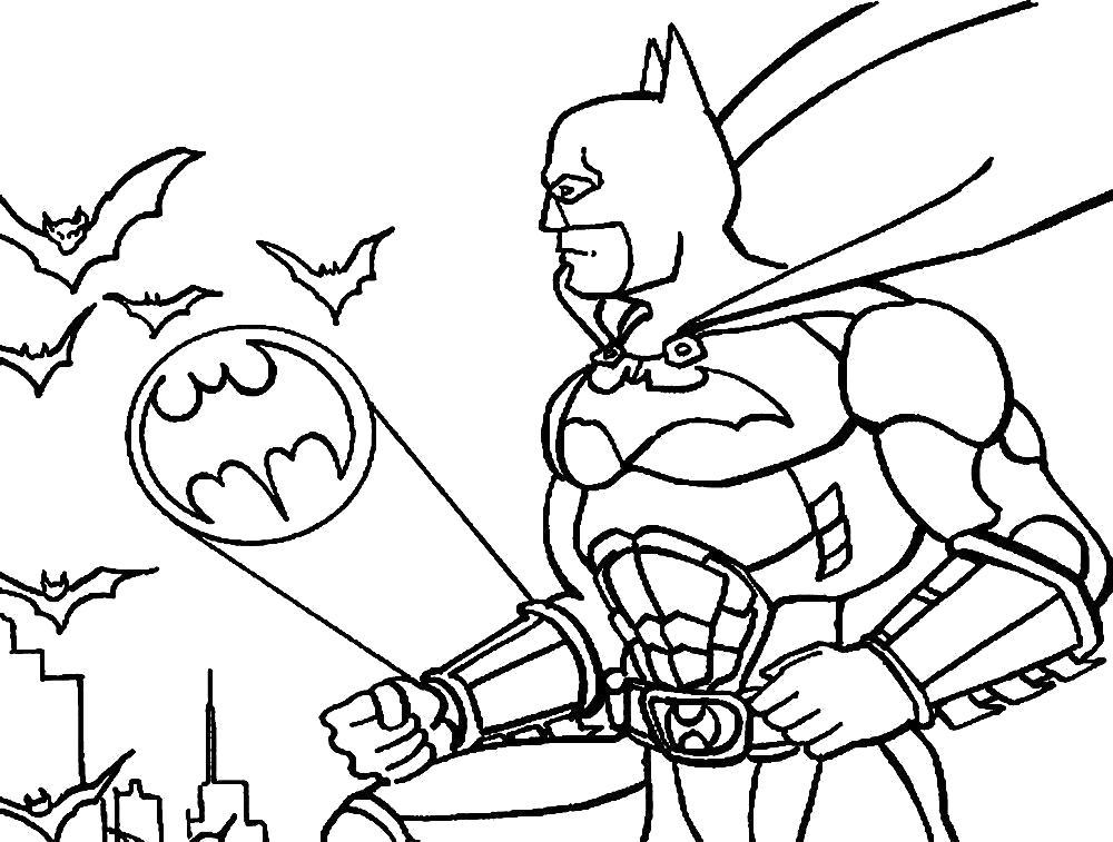 Раскраска Бэтмэн. Скачать .  Распечатать