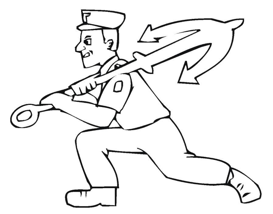 Раскраска  моряк. Скачать корабли.  Распечатать корабли