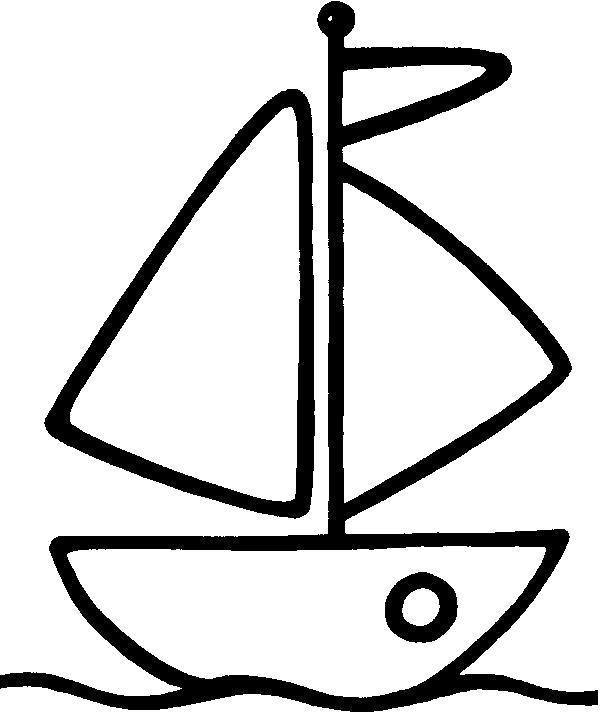 Раскраска  Кораблик.  . Скачать Кораблик.  Распечатать Кораблик